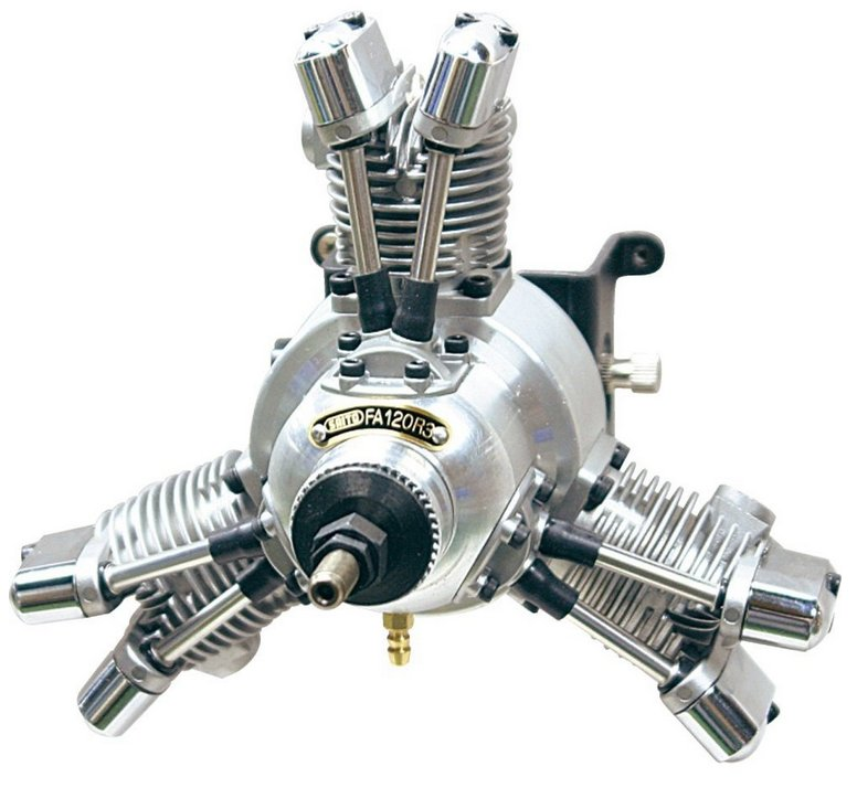 3 Cylinder Radial Engine